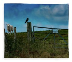 The Sheep That Hates Dogs Fleece Blanket