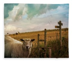 The Sheep Who Knows Where She's Going Fleece Blanket