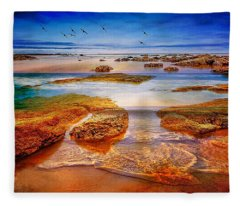 The Silent Morning Tide Fleece Blanket