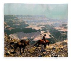 The Sinking Earth Fleece Blanket
