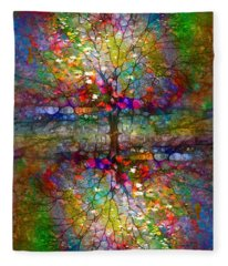 The Souls Of Leaves Fleece Blanket