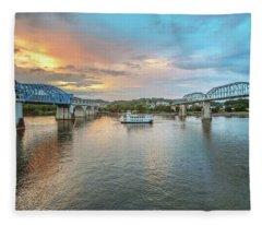 The Southern Belle Between The Bridges  Fleece Blanket