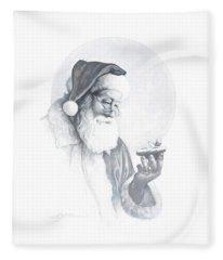 The Spirit Of Christmas Vignette Fleece Blanket