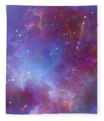 The Sunflower Nebula Fleece Blanket