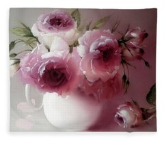 The Tender Fragrance Of Roses Fleece Blanket