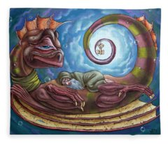 The Third Dream Of A Celestial Dragon Fleece Blanket