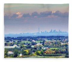 The Toronto Skyline Fleece Blanket
