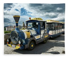 The Touristic Train Of Ourense Fleece Blanket