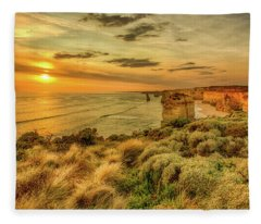 Fleece Blanket featuring the photograph The Twelve Apostles by Chris Cousins