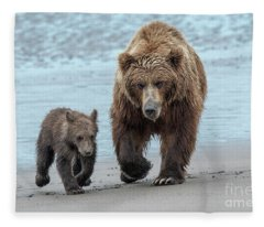 The Two Of Us-lake Clark, Ak Fleece Blanket