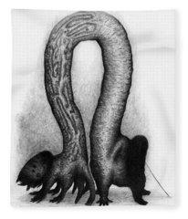 The Very Hungry Inch Worm - Artwork Fleece Blanket