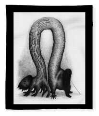 The Very Hungry Inch Worm - Artwork Fleece Blanket