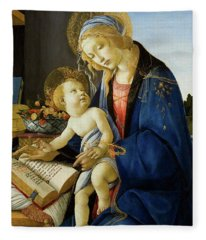The Virgin And Child, The Madonna Of The Book Fleece Blanket