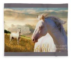 Fleece Blanket featuring the digital art The Wanderer by Melinda Hughes-Berland