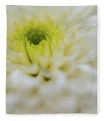 The White Flower Fleece Blanket