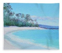 The White Sands Of Hyams Beach Fleece Blanket