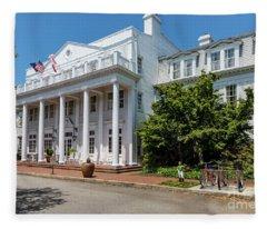 The Willcox Hotel - Aiken Sc Fleece Blanket