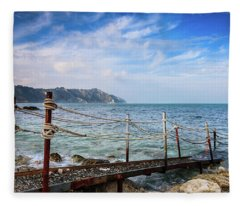 The Winter Sea #2 Fleece Blanket