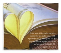 The Word Of God Hebrews 4 12 Fleece Blanket