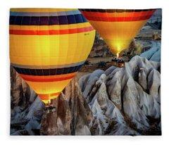 The Yellow Balloons Fleece Blanket