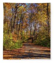 The Yellow Road Fleece Blanket