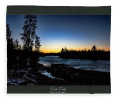 The Yellowstone River Fleece Blanket