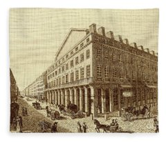 Theatre National In Rue De La Loi, Paris Now Rue Richelieu. Founded In 1793 By Montansier Fleece Blanket