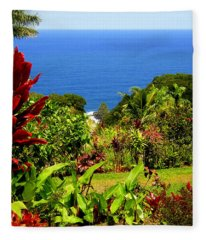 There Is A Paradise - Maui Hawaii Fleece Blanket