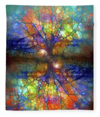 There Is Light Even In These Dark Roots Fleece Blanket