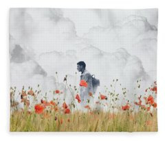 Fleece Blanket featuring the photograph The Time Traveler  by Andrea Kollo