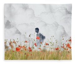 The Time Traveler  Fleece Blanket
