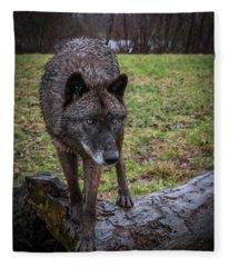 This Is My Log Fleece Blanket