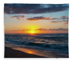 This Is Why They Call It Sunset Beach Fleece Blanket