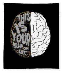 This Is Your Brain On Art Artistic Fleece Blanket