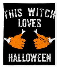 This Witch Loves Halloween Fleece Blanket