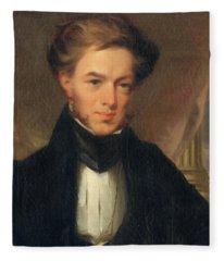 Portrait Of Thomas Ustick Walter, 1835 Fleece Blanket