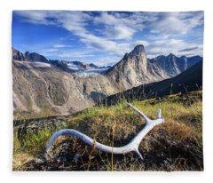 Thor Peak Caribou Antlers Fleece Blanket