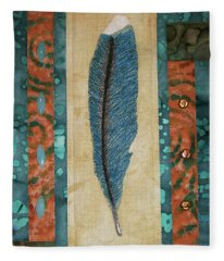 Threaded Feather Fleece Blanket
