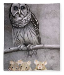 Three Blind Mice Fleece Blanket
