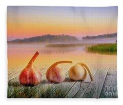 Contemporary Impressionism Mixed Media Fleece Blankets