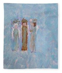 Three Friendly Angels Fleece Blanket