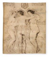 Three Graces Fleece Blanket