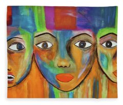Fleece Blanket featuring the photograph Three Graces  by Andrea Kollo