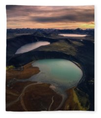 Three Lakes Fleece Blanket