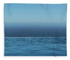 Three Layers Of Blue Fleece Blanket