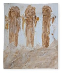 Three Little Muddy Angels Fleece Blanket