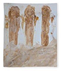 Three Little Muddy Angels Fleece Blanket