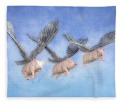 Three Little Pigs  Fleece Blanket