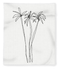 Three Tall Palm Trees- Art By Linda Woods Fleece Blanket