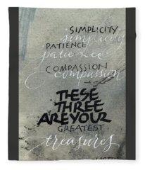 Three Treasures Fleece Blanket